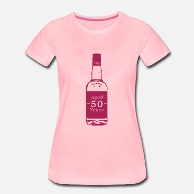 Age 50 50 years - whiskey - Women's Premium T-Shirt