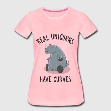 Real unicorns have curves - Dame premium T-shirt