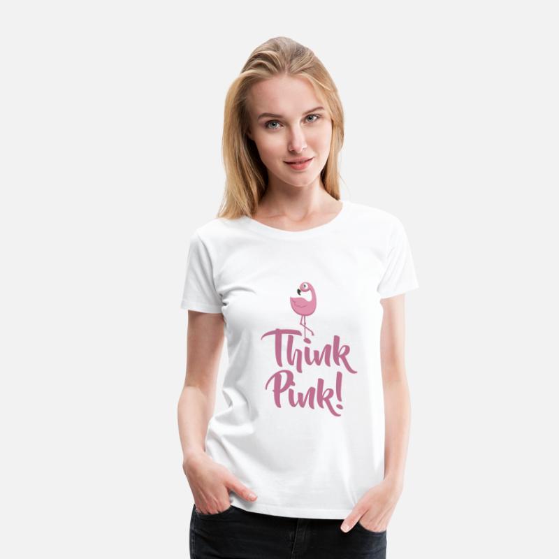 FLAMINGO. Think Pink Maglietta premium uomo   Spreadshirt