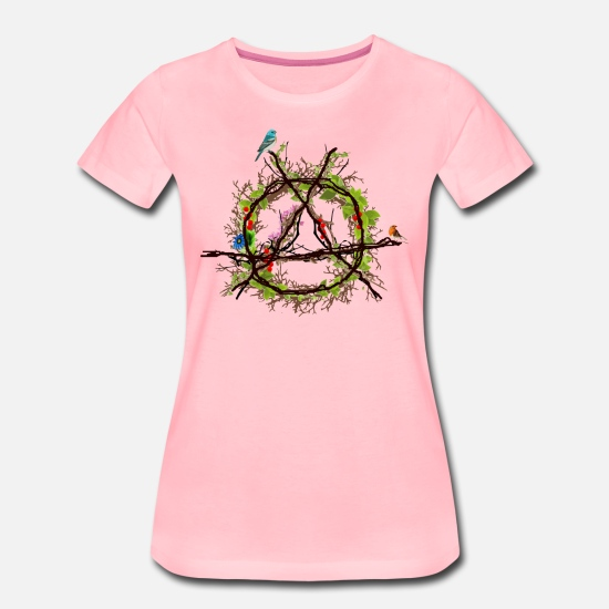 Anarchiste T-shirts - logo de l'anarchie verte - T-shirt premium Femme rose