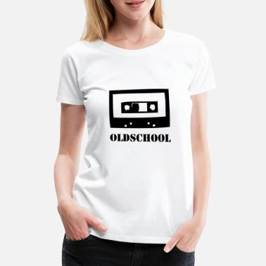 Analogue Oldschool Cassette Retro Vintage Tape 80s Music - Women's Premium T-Shirt