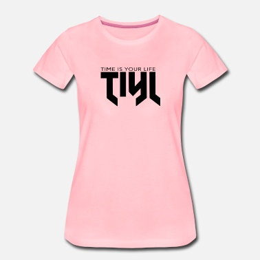 Logo Logo von TIME IS YOUR LIFE Schwarz - Frauen Premium T-Shirt