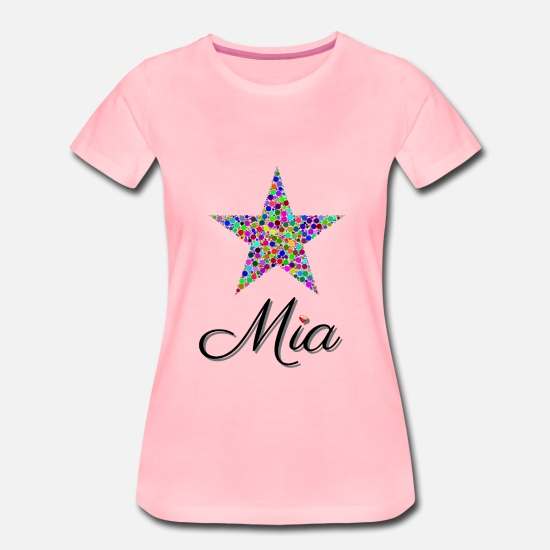 Piger T-shirts - Mia The Star - stjerne - Premium T-shirt dame pink