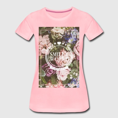 SmileyWorld Various Flowers In Bloom - Women's Premium T-Shirt