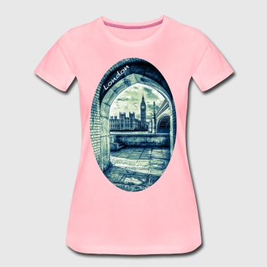 London Palace of Westminster og Big Ben - Dame premium T-shirt