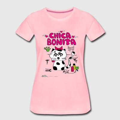 "Cat ""chica bonita"" - Women's Premium T-Shirt"
