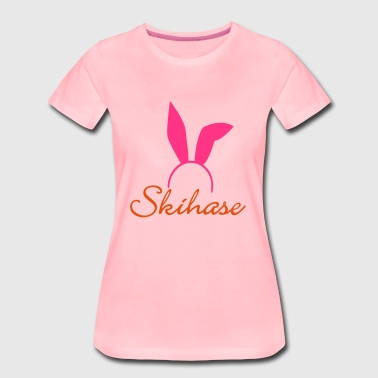 Skihase02 - Frauen Premium T-Shirt