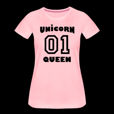 Unicorn Queen med krona - Premium-T-shirt dam