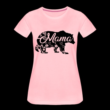 Mama Bear with flower decoration - Frauen Premium T-Shirt