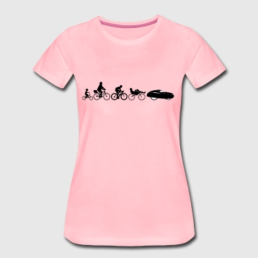 Cykel evolution sort - Dame premium T-shirt