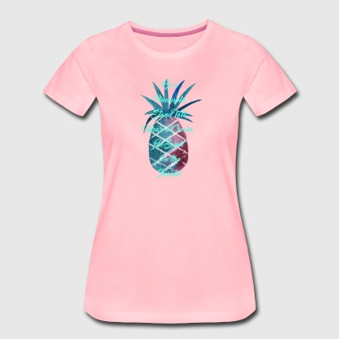 Be a Pineapple - Turquoise - Women's Premium T-Shirt