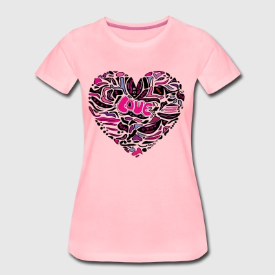 Heart LOVE pink - Women's Premium T-Shirt