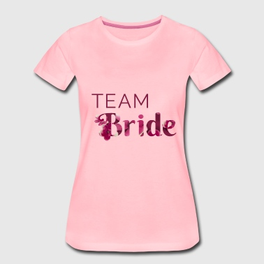 Team Flower Bride - Dame premium T-shirt