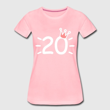 Number 20 with crown twenty years old - Women's Premium T-Shirt