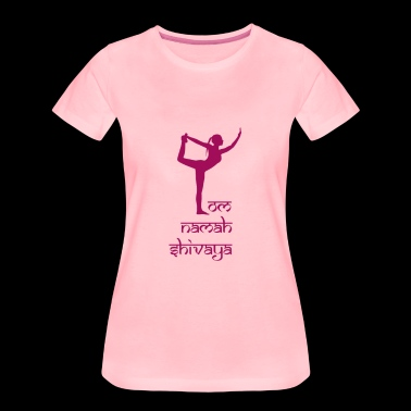 The Shiva dancer dances for Shiva to the Yoga Mantra - Women's Premium T-Shirt