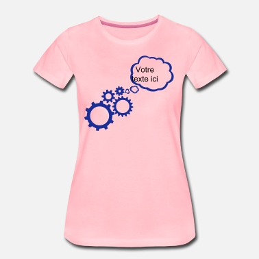 Add Text Bubble gear add text - Women's Premium T-Shirt