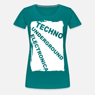 Electronica ELECTRONICA Underground Club Festival Style Bass - Women's Premium T-Shirt