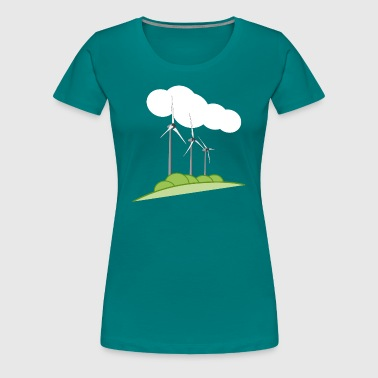 Wind turbine - Women's Premium T-Shirt