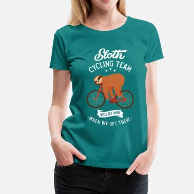 Sloth Sloth Cycling Team - Frauen Premium T-Shirt