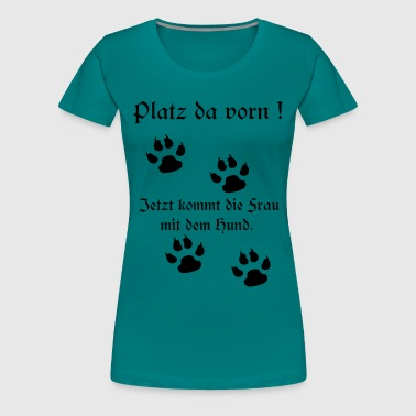 Paws Dogs sayings, woman, mistress, paw, dog owner, dog - Women's Premium T-Shirt