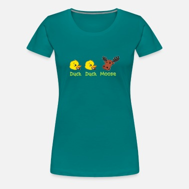 Duck Games Duck Duck Moose Party Game Gift - Women's Premium T-Shirt