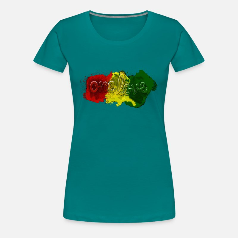Love T-Shirts - One Love - Jamaica Team shirt - Vrouwen premium T-shirt divablauw
