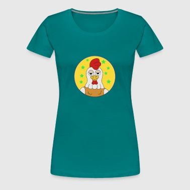 Shirt - chicken .. crazy chicken - Women's Premium T-Shirt