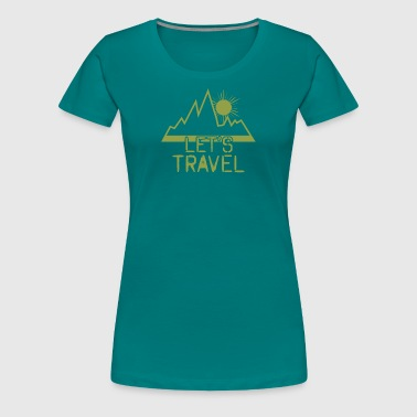 Frohe Ostern Backpacker - Frauen Premium T-Shirt