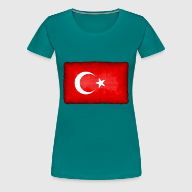 turkish flag - Premium T-skjorte for kvinner