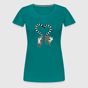 lemur love collection - Frauen Premium T-Shirt