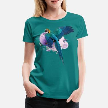 Parrot Yellow-blue macaw - Women's Premium T-Shirt