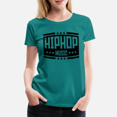 Old School &amp hip_hop_music_ab1 - Frauen Premium T-Shirt