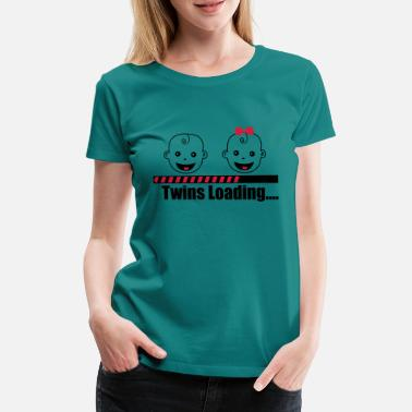 Twins Twins Loading Baby Babies - T-shirt premium Femme
