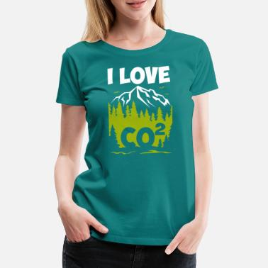 Co2 I love CO2 Anti Fridays for Future FFF - Women's Premium T-Shirt