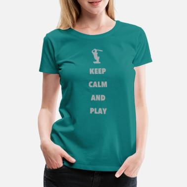 Cricket Cricket pitch cricket Thorball gift - Women's Premium T-Shirt