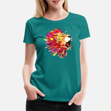 Animal Collection V2 roaring Lion - Women's Premium T-Shirt
