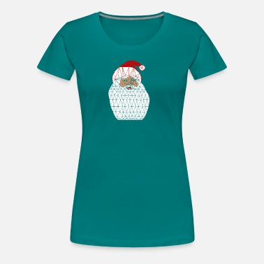 Isometric Santa Claus isometric dark background - Women's Premium T-Shirt