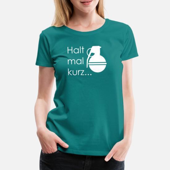 8d25d4c79a Halt mal kurz Känguru Chroniken Geschenkidee Kling - Frauen Premium T-Shirt.  Hinten. Hinten. Design. Vorne. Vorne