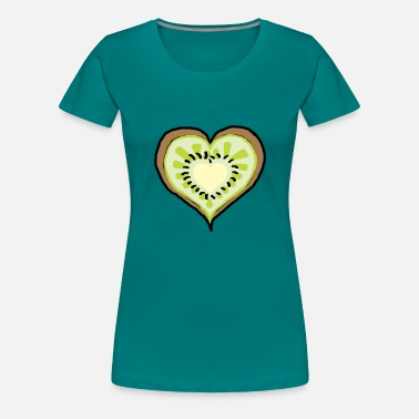 Kids Picture Lime kids girl boys school baby kids - Vrouwen Premium T-shirt