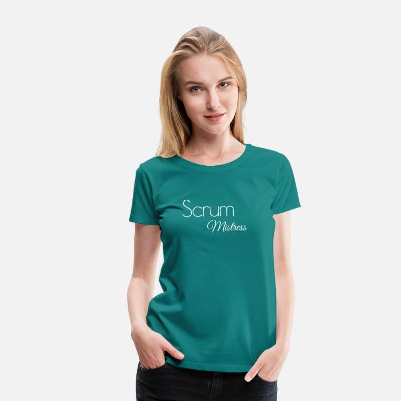 Project Management T-Shirts - Scrum Mistress - Women's Premium T-Shirt diva blue