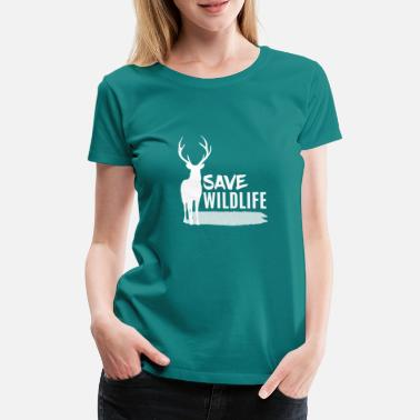 Red Head Deer - Deer / Save Wildlife - Women's Premium T-Shirt