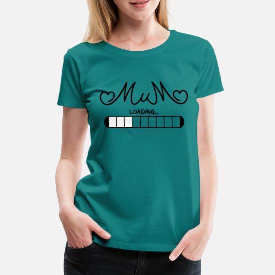 1c4a2d3e7e948 Pregnant loading mum 30 percent black Women's Premium T-Shirt ...