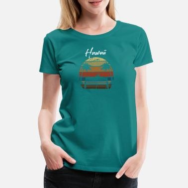Vacation Vintage Hawaii Palm Trees Vacation Summer Sun Island - Women's Premium T-Shirt