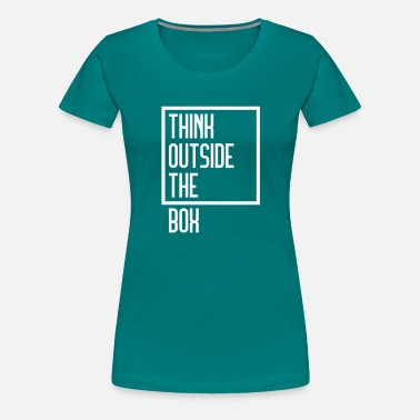 Box Office Think Outside The Box - Women's Premium T-Shirt