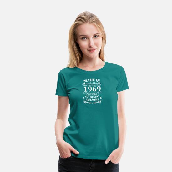 50 årsdag 1969 femti 50 år Legends Gravid T skjorte