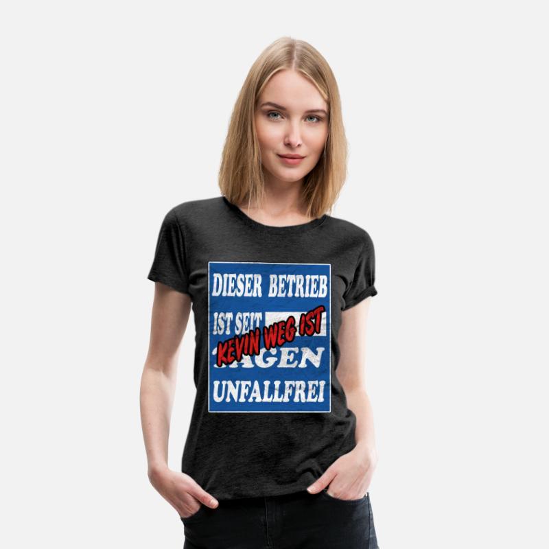Kevinlustige Sprüchegeschenkvintage Frauen Premium T Shirt Anthrazit