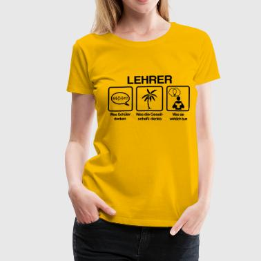 Lehrer - What my friends think I do - Frauen Premium T-Shirt