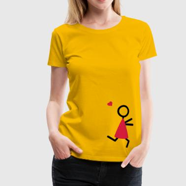 partner shirt couple runs to each other partner skjorta par går till varandra - Premium-T-shirt dam