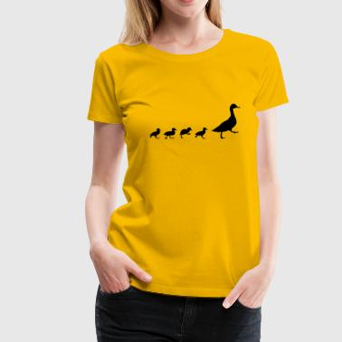 Duck and 4 chicks (super cheap!) - Vrouwen Premium T-shirt