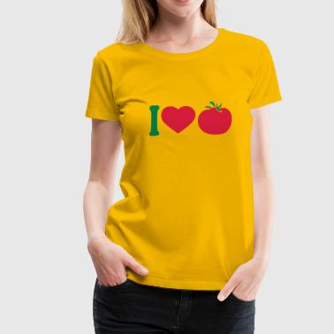 I love tomatoes vegetables logo - Women's Premium T-Shirt